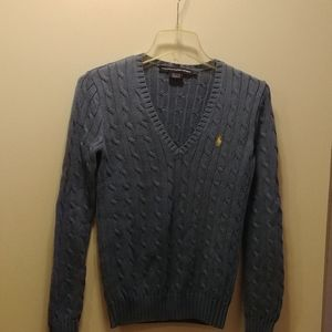 Ralph Lauren periwinkle cable knit sweater